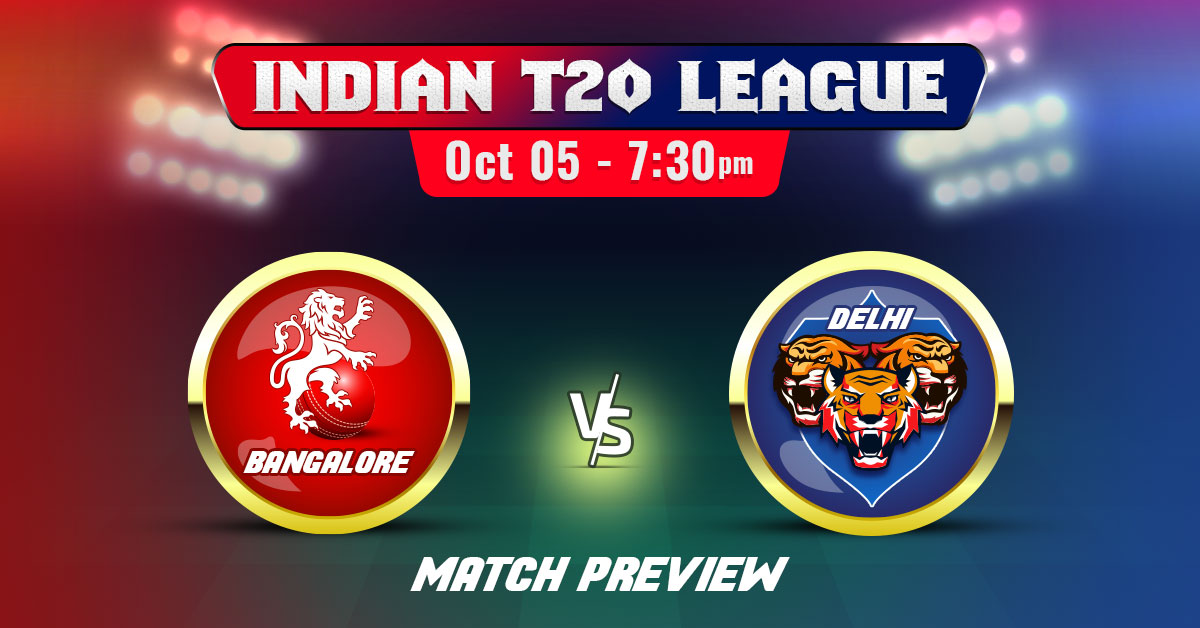 Delhi vs Bangalore Indian T20 League 2020 Match Preview & Prediction