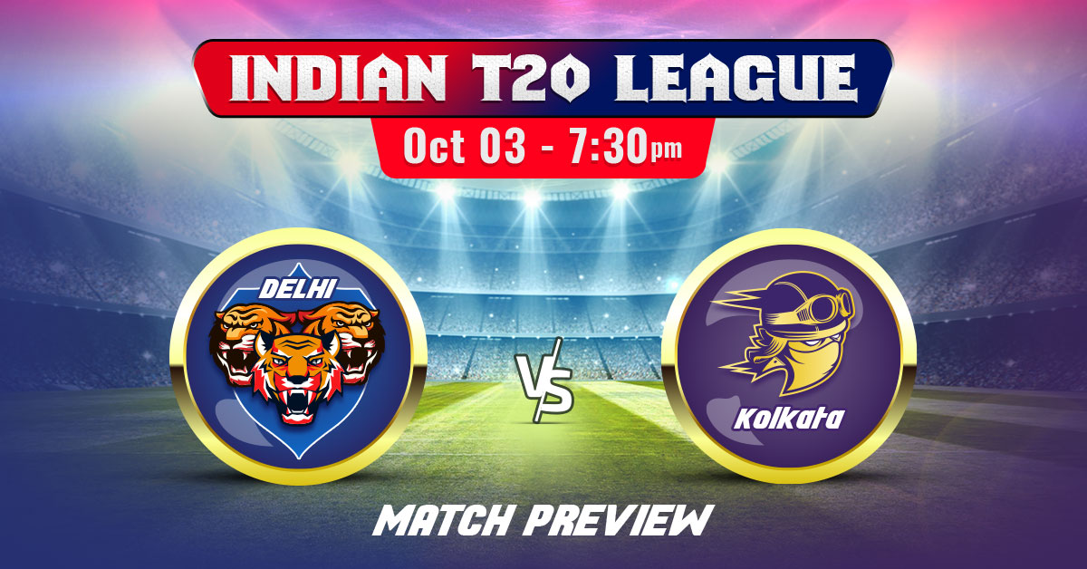 Delhi vs Kolkata Indian T20 League 2020 Match Preview & Prediction