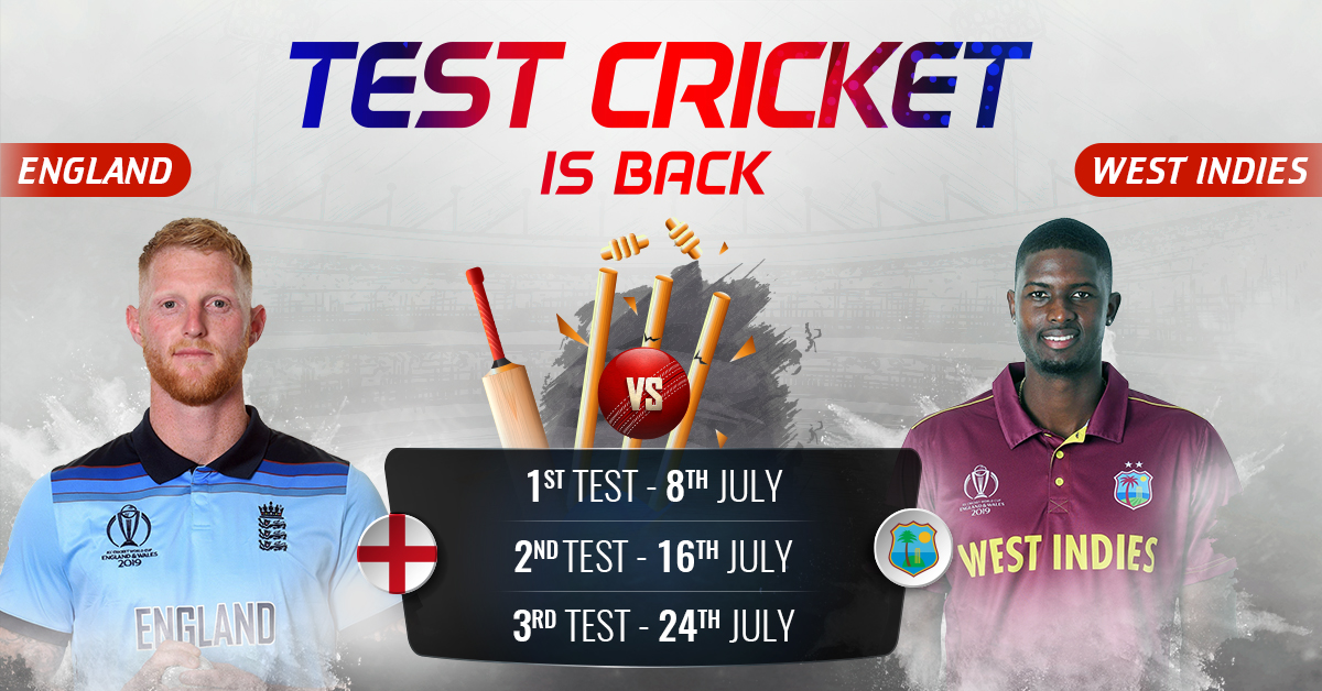 England vs West Indies Test 2020: All About Full Schedule, Squads