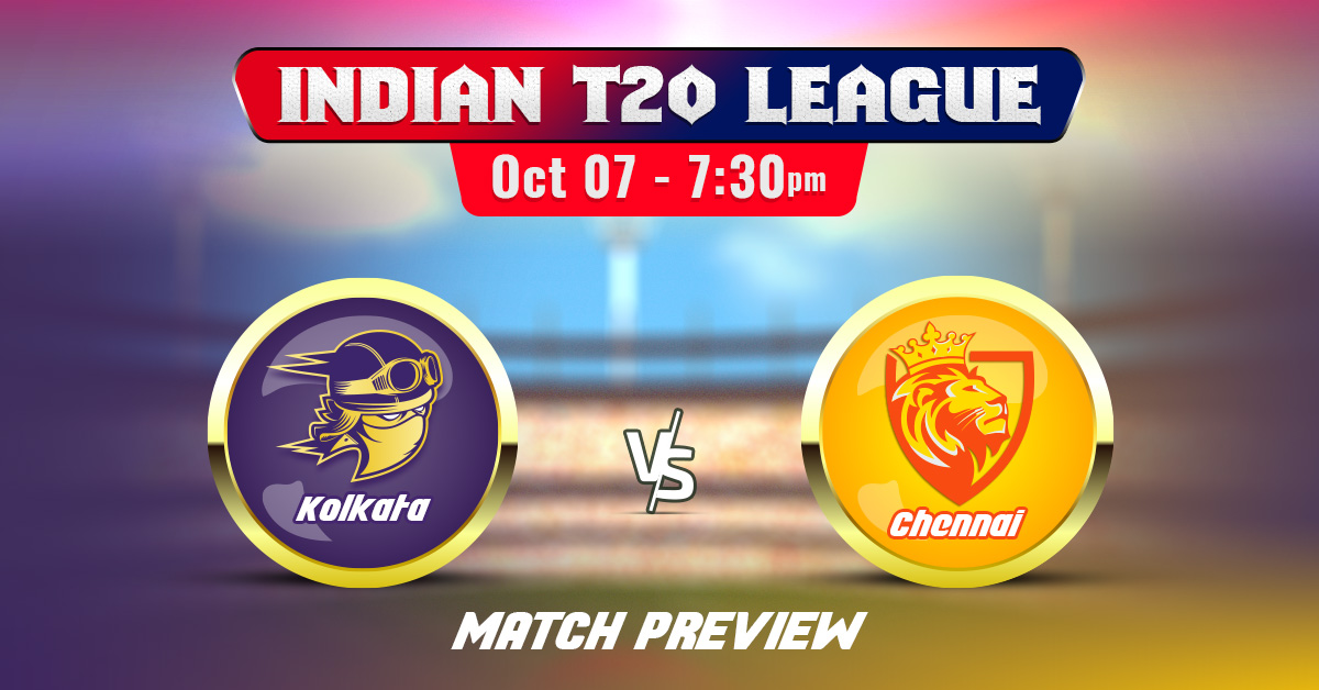 Kolkata vs Chennai Indian T20 League 2020 Match Preview & Prediction