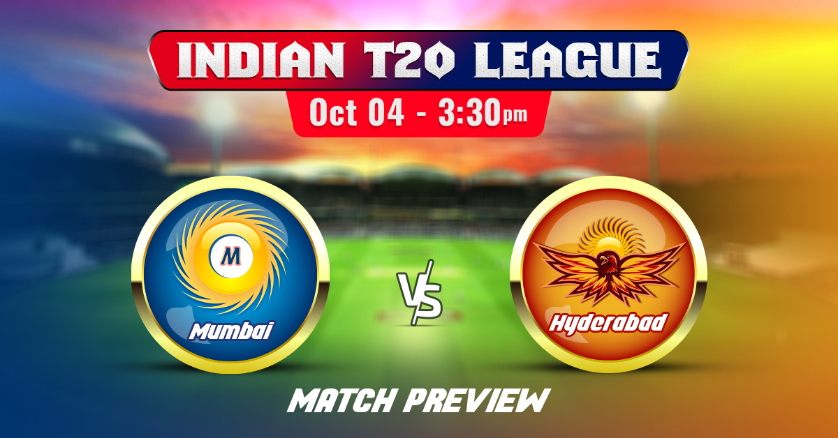 Mumbai vs Hyderabad Indian T20 League 2020 Match Preview & Prediction